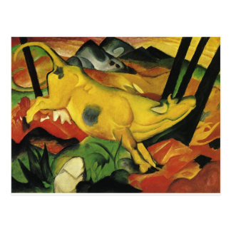 The Yellow Cow by Franz Marc Postcard