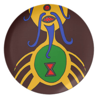 The Yellow Dog Spider Plate
