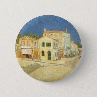 The Yellow House by Vincent van Gogh 2 Inch Round Button