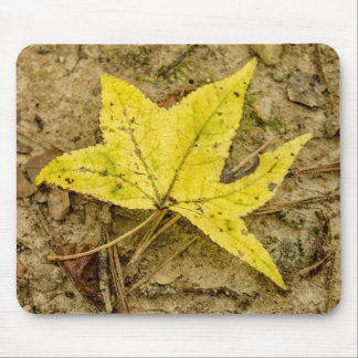 The Yellow Leaf Mouse Pad