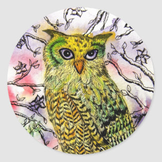 The Yellow Owl Stickers