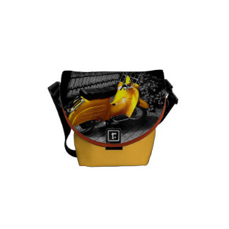 The yellow pose courier bag
