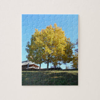 The Yellow Tree  And The Blue Sky Jigsaw Puzzle