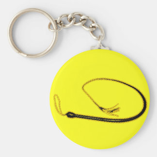 THE YELLOW WHIP BASIC ROUND BUTTON KEYCHAIN