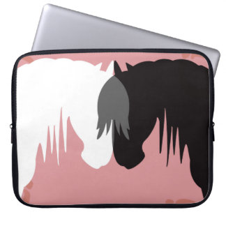 the yin and yang horses 15 inch laptop sleeve