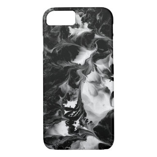 THE YIN & THE YANG (black & white abstract art) ~. iPhone 7 Case