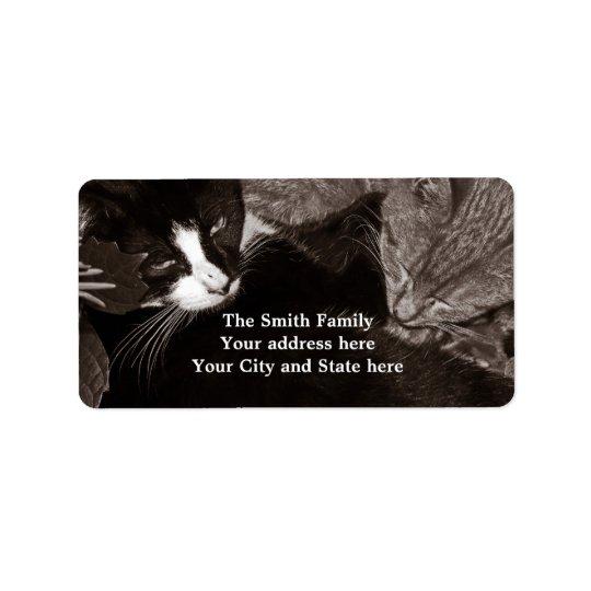 The Yin Yang Cats Label