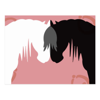The Yin & Yang Horses Postcards