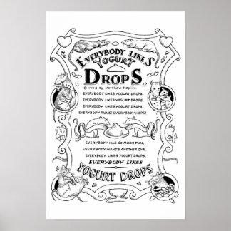 The Yogurt Drop Song Print