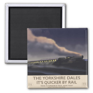 The Yorkshire Dales Railway poster Magnet