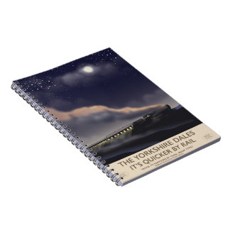 The Yorkshire Dales Railway poster Notebook