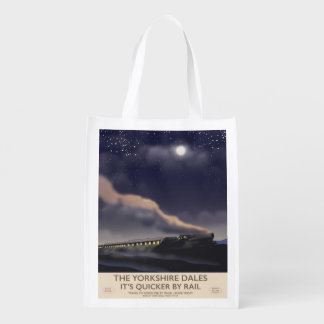 The Yorkshire Dales Railway poster Reusable Grocery Bag