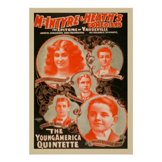 The Young America Quintette Vintage Poster