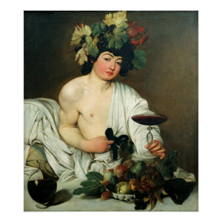 The Young Bacchus, Caravaggio Poster