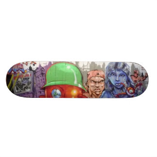 The young girl and warriors - skateboard deck