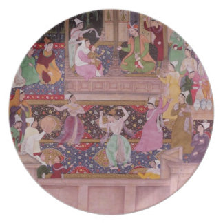 The young Prince with his parents, from the 'Akbar Dinner Plate