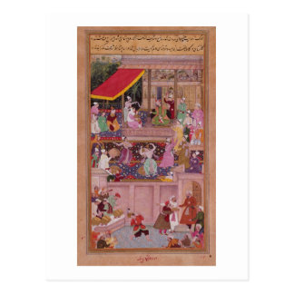 The young Prince with his parents, from the 'Akbar Postcard