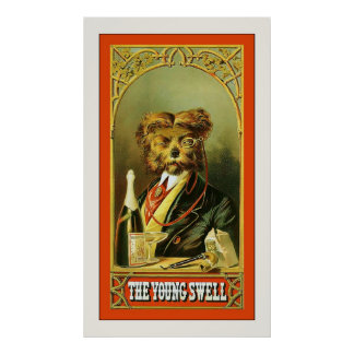 The Young Swell ~ Vintage Tobacco Advertising Poster