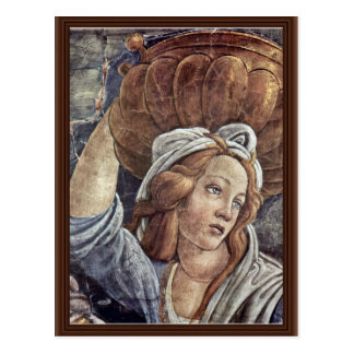 The Youth Of Moses, Detail By Botticelli Sandro Postcard