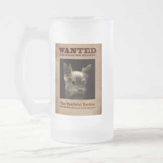 The Youthful Yorkie Frosted Glass Beer Mug