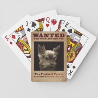 The Youthful Yorkie Playing Cards