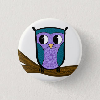The Zen Owl 1 Inch Round Button
