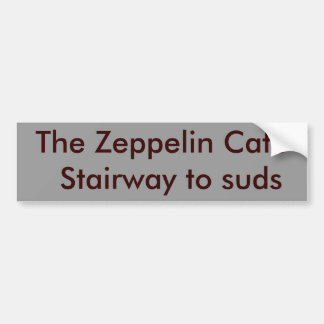 The Zeppelin Cafe  Stairway to suds Bumper Sticker