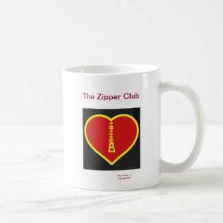 The Zipper Club Classic White Coffee Mug