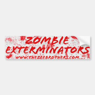 The Zombie Exterminators White Bloody Sticker
