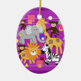 The Zoo. Ceramic Oval Ornament
