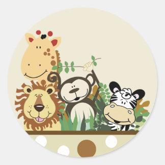The Zoo Crew Jungle Envelope Seals - Tan