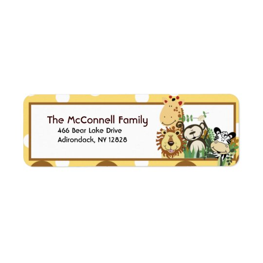THE ZOO CREW (YELLOW) PRINTABLE ADDRESS LABELS