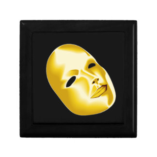 Theater Acting Jewelry Box Golden Mask