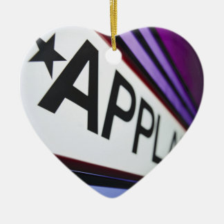 Theater Applause Sign Ceramic Heart Ornament
