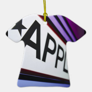 Theater Applause Sign Ceramic T-Shirt Ornament