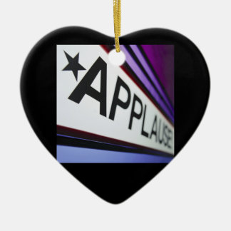 Theater Applause Sign Christmas Ornaments