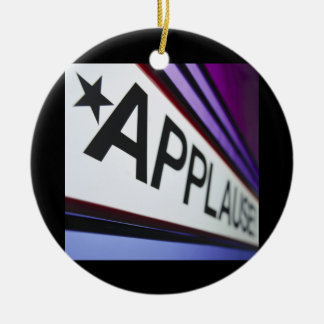 Theater Applause Sign Round Ceramic Ornament