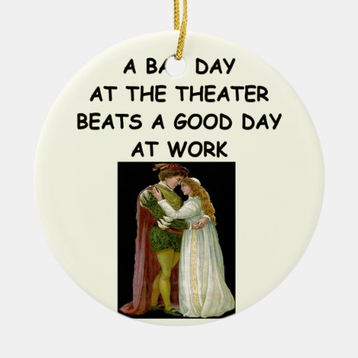 theater arts christmas tree ornament