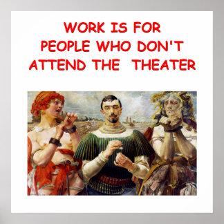 theater arts print