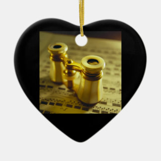Theater Binoculars 2 Ceramic Heart Ornament