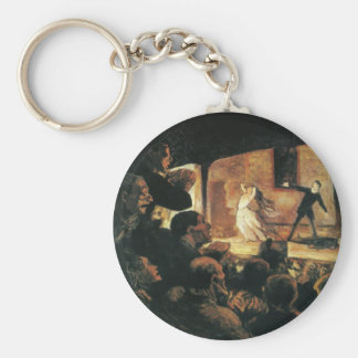 Theater by Honore Daumier Keychain