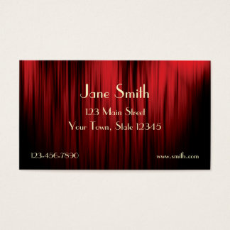 Theater Curtain Business Card