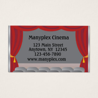 Theater Curtains, Stage Business Card