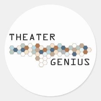 Theater Genius Classic Round Sticker