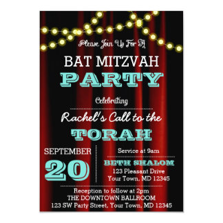 Theater Lights Teal All Occasion Invitation