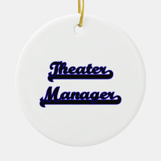 Theater Manager Classic Job Design Double-Sided Ceramic Round Christmas Ornament