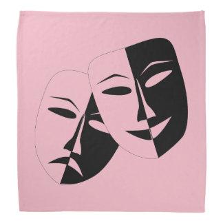 Theater Masks Head Kerchiefs