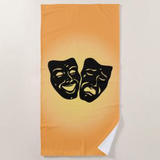 Theater Masks the Sun Beach Towel