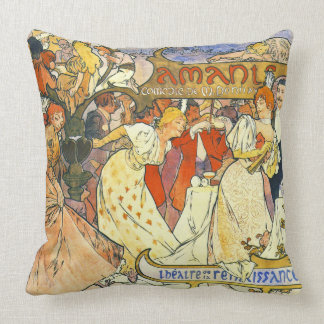 Theater Poster 1895 Throw Pillow