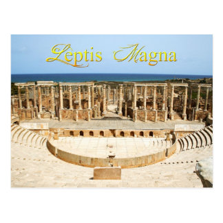 Theater Ruins at Leptis Magna, Libya Postcard